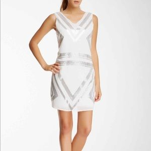 Romeo and Juliet Couture Geometric Sequin Dress